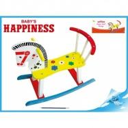 Dřevěný  houpací  koník Babys Happiness