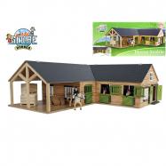 Stáj pro koně dřevěná 68x77x27cm v krabičce