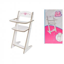 Drewniane krzesło dla lalki 53 cm w pudełku