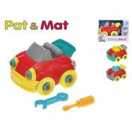 Auto Pat a Mat 13cm šroubovací 3barvy v krabičce