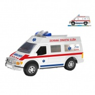 Auto slovenska ambulancia 27cm na zotrvačník v krabičke