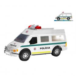 Auto slovenská polícia 27cm na zotrvačník v krabičke