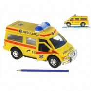 Auto ambulancie 27cm na zotrvačník v krabičke