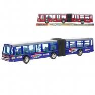 Autobus kloubový 42cm na setrvačník 2barvy v krabičce