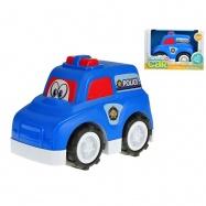Auto policajné veselé 25cm voľný chod 18m + v krabičke