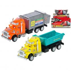 Kamión 17cm na zotrvačník 2druhy v krabičke 24ks v DBX