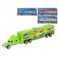 Kamion na zpětný chod 23cm 3barvy na kartě