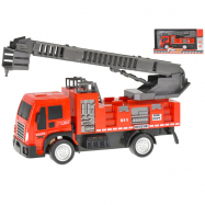 Auto hasiči 20,5 cm na setrvačník výsuvný a otočný žebřík v krabičce