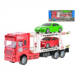 1:32 Cieżarówka transportowa 32 cm z 2 samochodami 14 cm w WBX