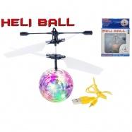 Helikoptéra míček Diamond 11cm svítící reagující na pohyb ruky s USB kabelem v krabičce
