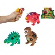 Dinosaurus strečový 9 cm 3 druhy 2 farby