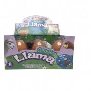Alpaka líhnoucí a rostoucí ve vajíčku JUMBO 11cm 4druhy 6ks v DBX