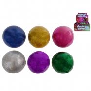 Piłka do ściskania -brokat 10cm 6- kolorów