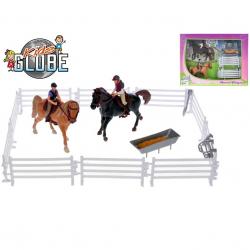 Koníci s jezdci 13 cm 2ks s doplňky v krabičce