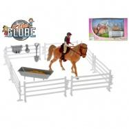 Koník s jezdcem 13cm s doplňky v krabičce