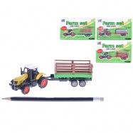 Traktor s vlečkou 16 kov 4druhy na kartě