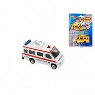 Ambulancia 7cm kov 2barvy na karte