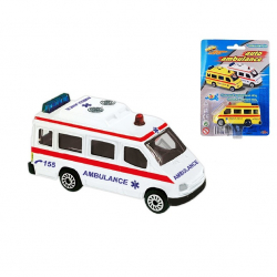 Ambulans metalowy 7 cm 2 wzory Czeska wersja na blistrze