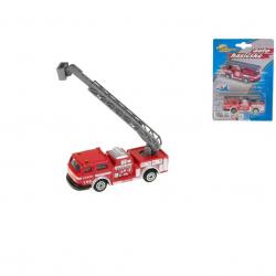 Auto hasičské 7cm kov na kartě