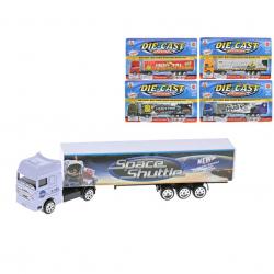 Kamion kontejnerový 20cm 1:87 kov volný chod 5druhů na kartě