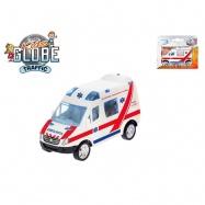 Auto slovenská ambulance 8cm kov zpětný chod v krabičce