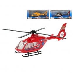Helikopter metalowy 21cm w pudełku, 3 wzory (żółty, czerwony, czarny)