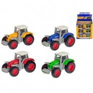 Traktor 7cm kov 1:64 volný chod 4barvy v krabičce 24ks v DBX