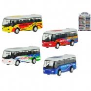 Autobus kov 9cm 1:55 zpětný chod 5druhy v krabičce 24ks v DBX