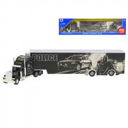 Cieżarówka policyjna metalowa 35 cm w WBX