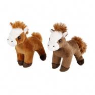 Kůň plyšový 13cm 2 barvy 0m+