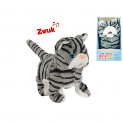 Kot pluszowy chodzący z dźwiękiem 17 cm