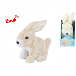 Pluszowy skaczący królik z dźwiękiem 15,5cm