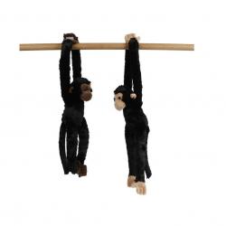 Opice plyšová 50cm dlouhé ruce a nohy 2barvy 0m+