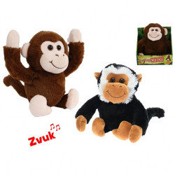 Opice veselá 25cm na baterie se zvukem 2druhy 12m+ v krabičce