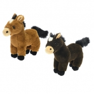 Kůň plyšový 24cm 2barvy 0m+