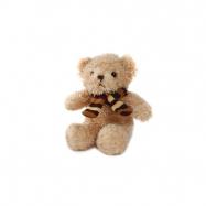 Medvěd plyšový 17cm sedící se šálou 0m+