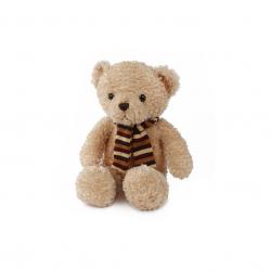 Medvěd plyšový 23,5cm sedící se šálou 0m+