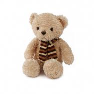 Medvěd plyšový 28cm sedící se šálou 0m+