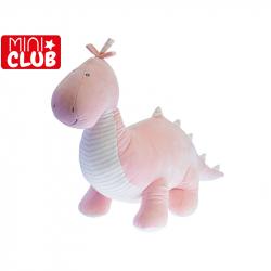 Dinosaurus plyšový 50cm ružový 0m+