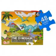 Puzzle dinosauři 90x60cm 48dílků v krabičce