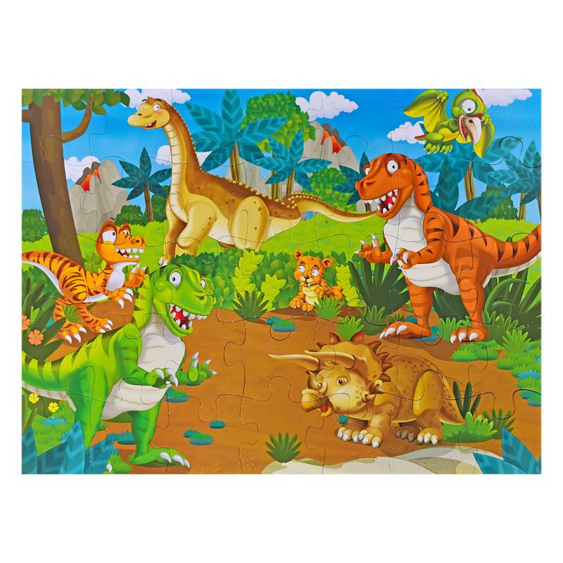 Puzzle podłogowe dinozaury 35 szt. 62x46cm w torbie
