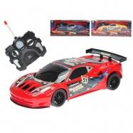 R/C auto športové 23cm plná funkcia na batérie so svetlom 27MHz 3barvy v krabičke