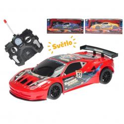 Auto sportowe 23cm zdalnie sterowane na baterie - światło, dźwięk w pudełku
