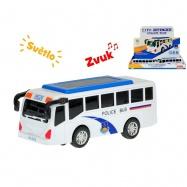 Autobus 15cm narážecí  na baterie se světlem a zvukem 8ks v DBX