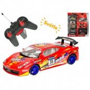 R/C auto športové 22cm 1:18 plná funkcia 27MHz na batérie so svetlom 2barvy v krabičke