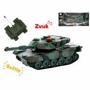 R/C tank 16,5cm 1:32 27MHz na baterie plná funkce 10kanálů se světlem a zvukem v krabičce