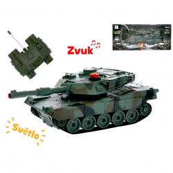 R/C tank 16,5cm 1:32 27MHz na batéria plná funkcie 10kanálů so svetlom a zvukom v krabičke