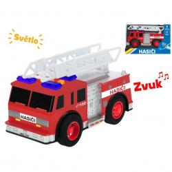 Auto hasiči 18 cm na zotrvačník na batérie so svetlom a zvukom v krabičke