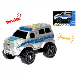 Auto policja 18cm na baterie, światło, dźwięk, try-me.