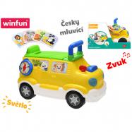 Auto edukační / odrážedlo 42 x 22 x 30 česky mluvící na baterie se světlem a zvukem 18 m+